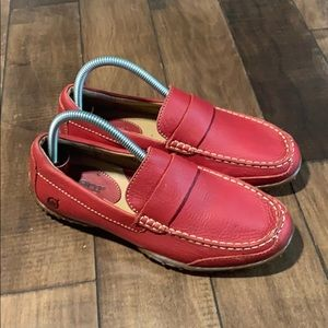 Women's Red Leather Born loafers sz 7